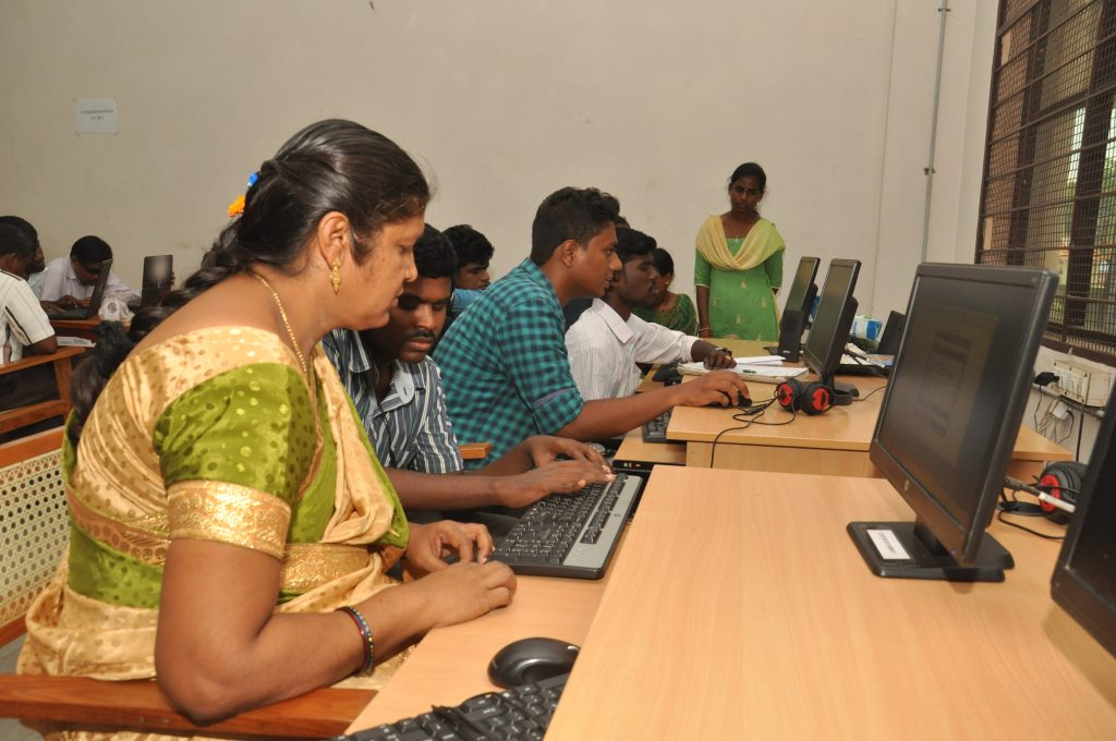 Persons with Disabilities using the system via Assistive device in Trichy Library